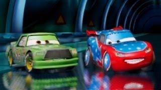 PS3 Cars 2 The Video Game Chick Hicks vs Daredevil Lightning McQueen Battle Race!