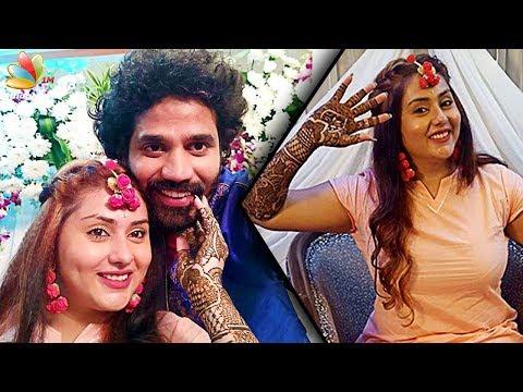 Jyothika Mehndi Ceremony : Namitha veera mehendi ceremony video tamil actress marriage