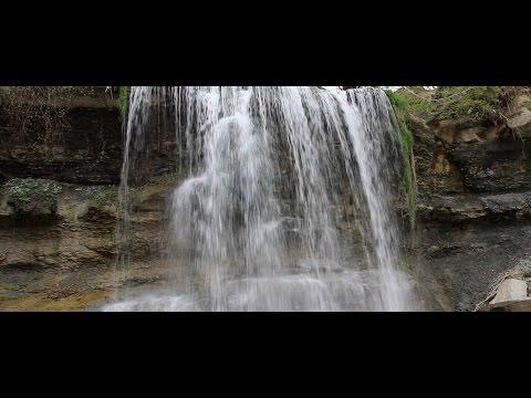Rock Glen Falls ULTRA WIDE 4K - Travel Vlog #1