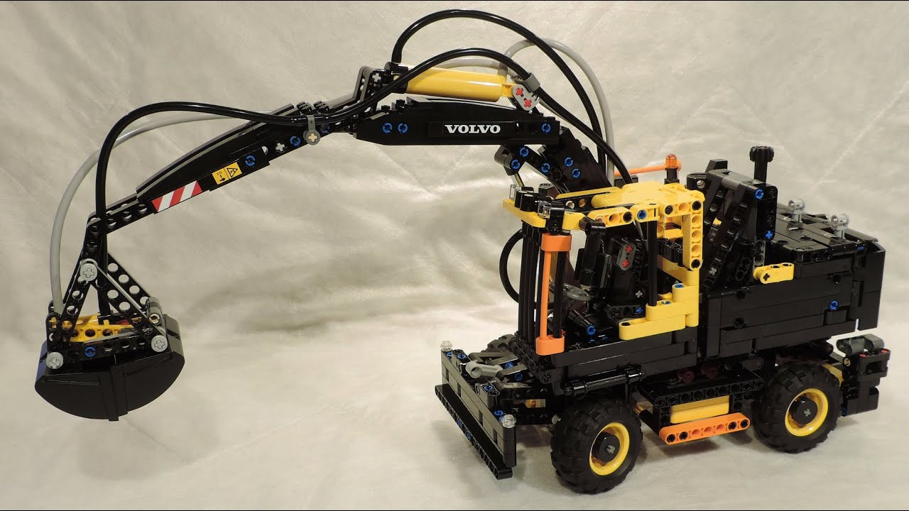 building lego technic 42053 volvo ew160e 4k youtube. Black Bedroom Furniture Sets. Home Design Ideas