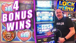 4 BONU$ ROUND$! 💗Exciting Wins on Lock It Link Night Life! 🎰| The Big Jackpot