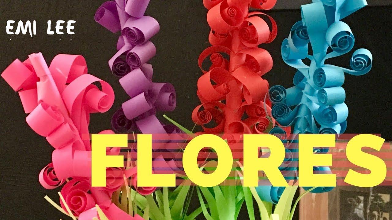 FLORES DE HOJAS DE COLORES DIY EO044