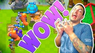 Clash Royale BIGGEST PUSH EVER!! [Witch Balloon Giant]