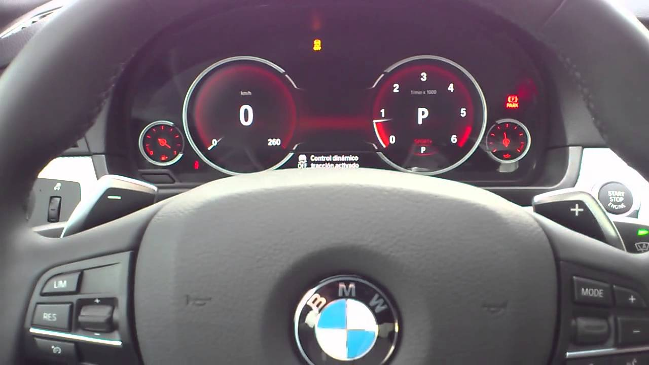 Bmw Serie 5 F10 Cuadro Multifuncional Lcd Youtube
