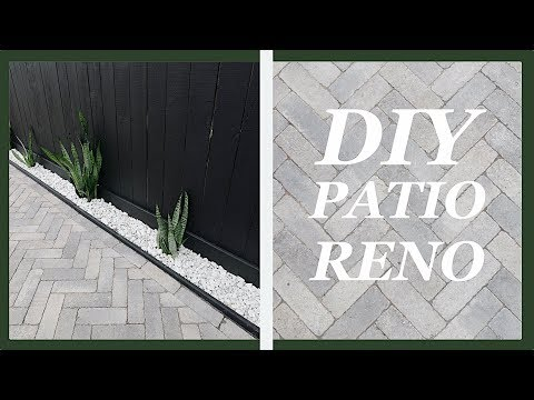 DIY Herringbone Pattern Paver Patio Renovation | Home Improvement