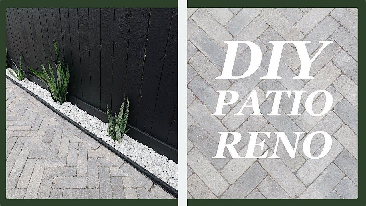 diy concrete paver patio 7 steps