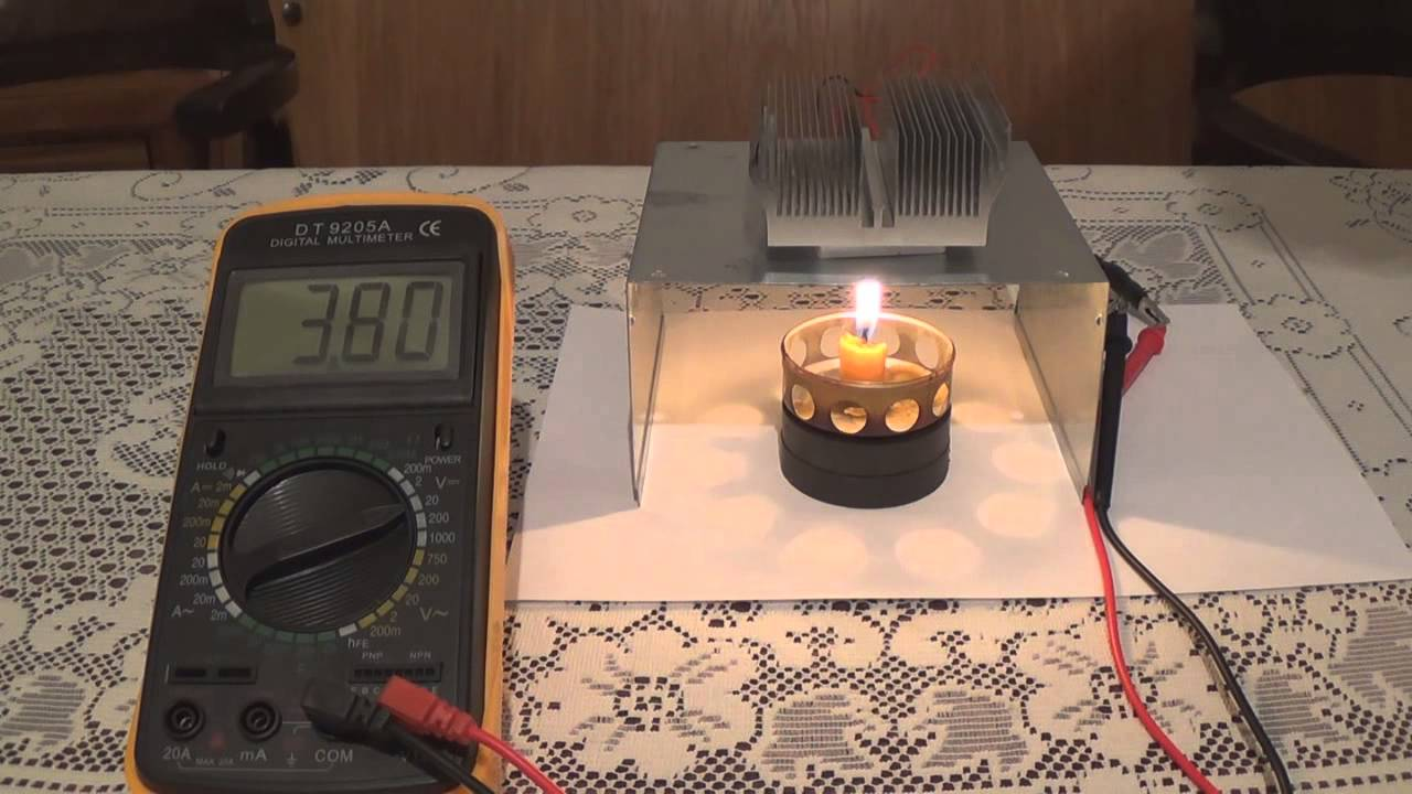 Diy Peltier Candle Power Electric Generator Youtube
