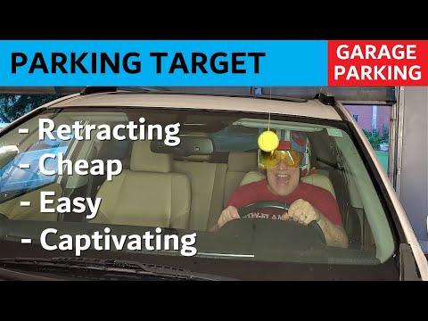 Retracting Parking Target - Cheap Garage Fun