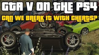 GTA 5 Cheats: We try to break the game again (PS4 Gameplay) - VideoGamer