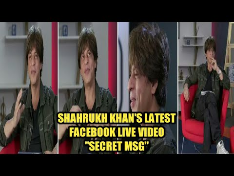 Shahrukh Khan's Live Facebook Video especially for FANS | Must Watch