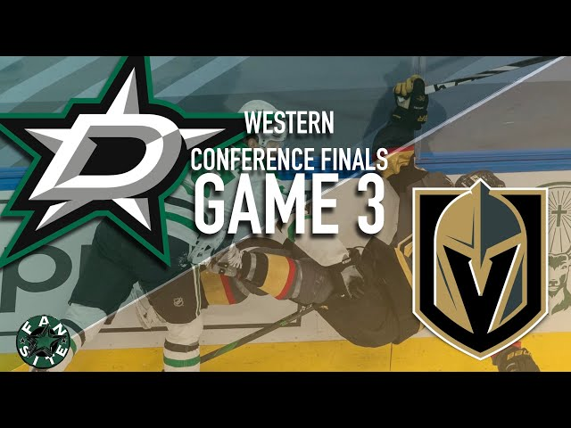 Dallas Stars vs Vegas Golden Knights | Game 3, Western Conference Finals | 2020 Stanley Cup Playoffs