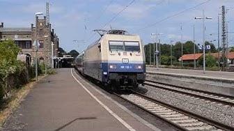 101 112 (Rheingold) fährt mit IC144 in Minden aus