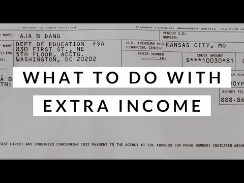 A $10,000 Student Loan Refund Check? | What To Do With Extra Income | Aja Dang