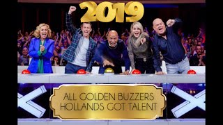 All Golden Buzzers L Hollands Got Talent 2019 ⭐️ #