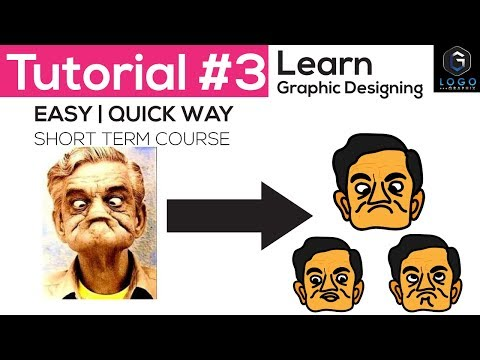 Graphic design tutorial (part 3) for beginner | Short term course in hindi 2017