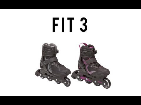 OXELO ROLLER - Roller FIT 3 adulte - YouTube bf09457b98c