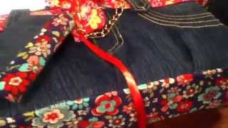 Bolsa y funda para ipod de mezclilla/jeans