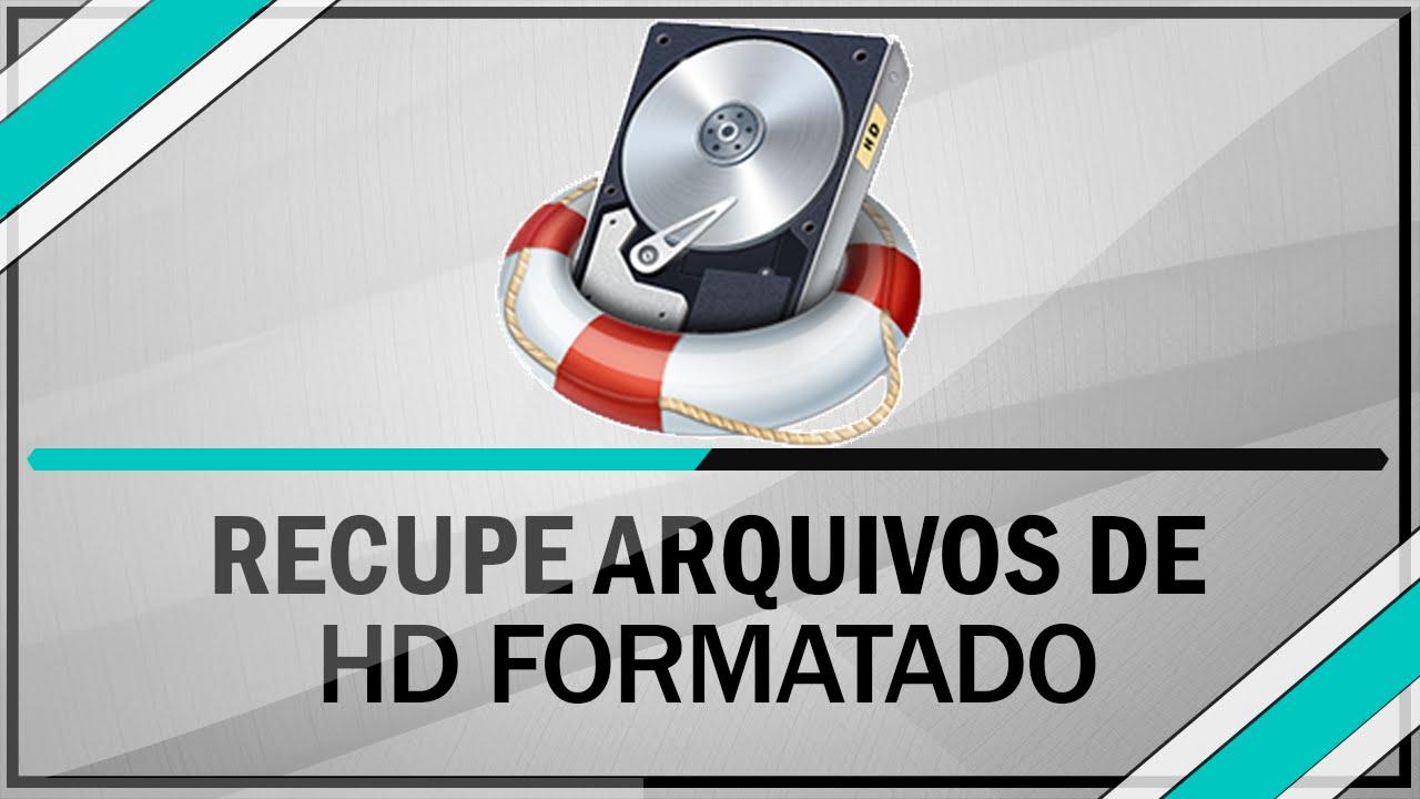 Como recuperar arquivos de um HD formatado - YouTube