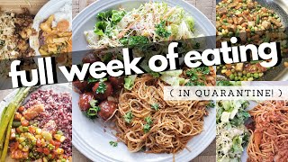 WHAT I ATE IN A WEEK / VEGAN (Quarantine Edition)