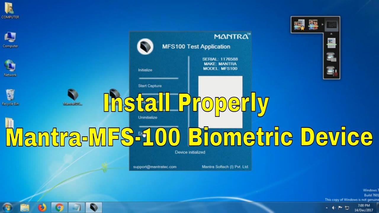 Install Mantra Mfs 100 Mantra Setup Youtube