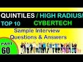 QUINTILES IMS | HIGH RADIUS | CYBERTECH SYSTEMS Top most interview questions and answers