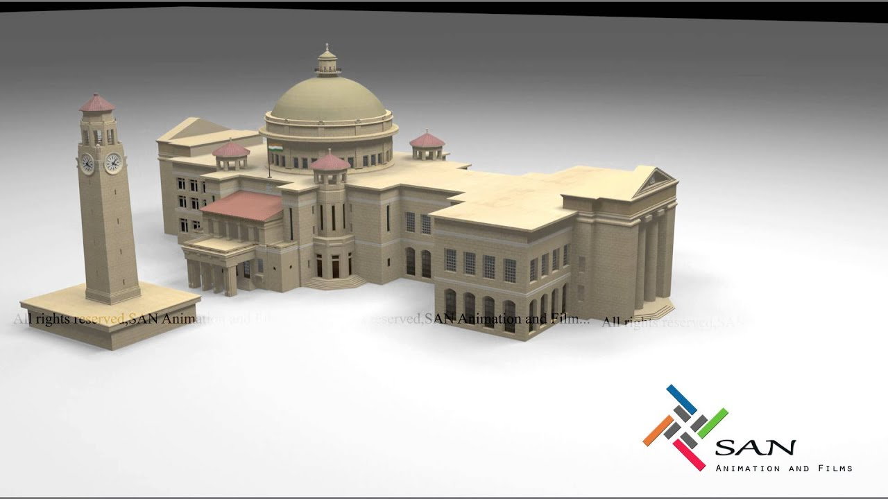 Cairo university egypt 3d model walkthrough youtube for Cairo mobel