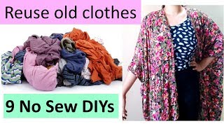 9 creative ways to reuse or recycle old clothes by no sew method | Learning Process