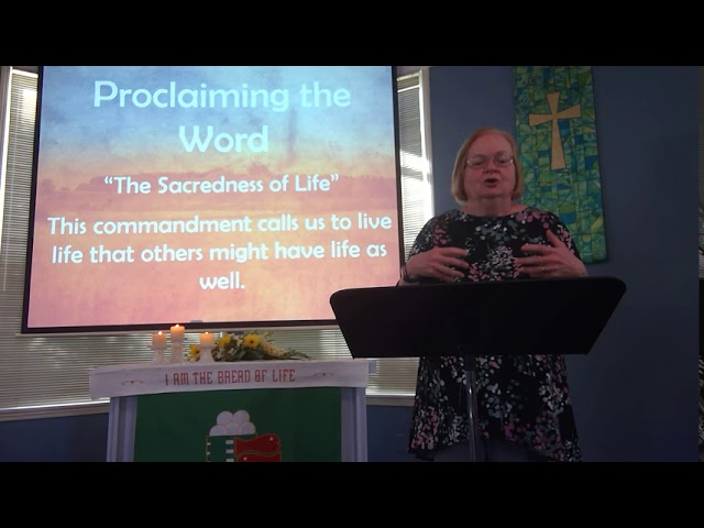 "October 10, 2020 ~ Rev. Julia Price ~ ""The Sacredness of Life"""