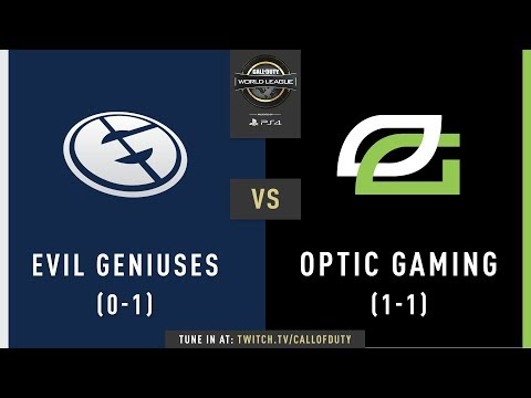 Evil Geniuses vs OpTic Gaming | CWL Pro League 2019 | Division A | Week 1 | Day 3