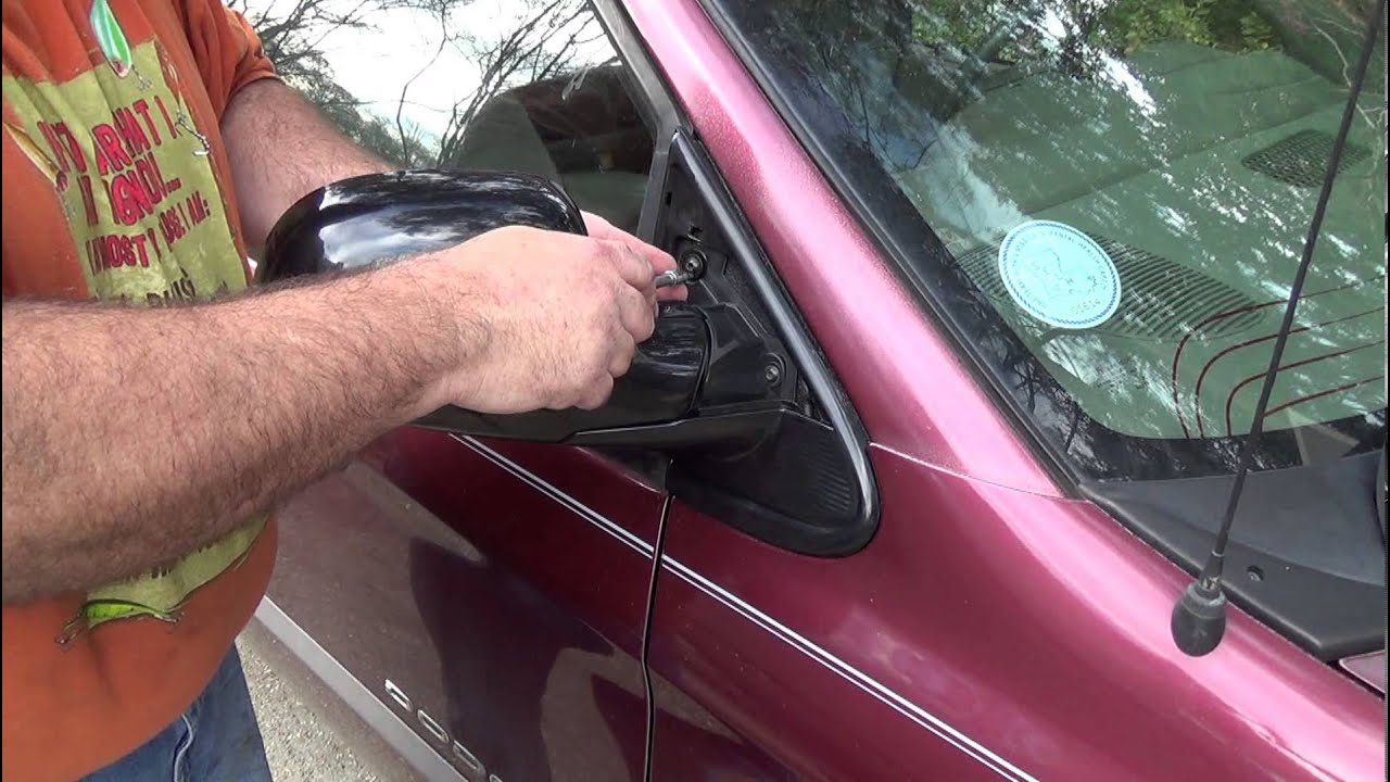 maxresdefault how to replace the side mirror on a dodge caravan, plymouth  at creativeand.co