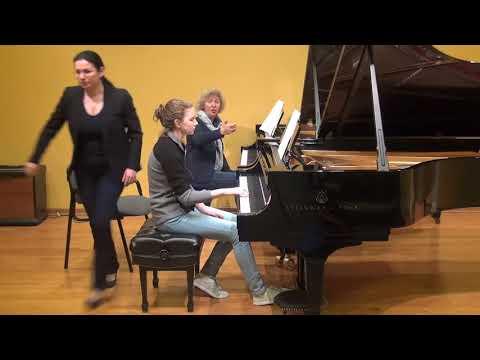 24.02.2018 Mira Marchenko's master-classes. Christin Schultz. Schmitt Music, Kansas City, USA.