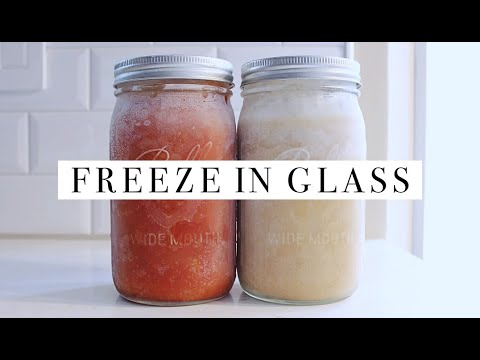 How To Freeze Food In Glass Jars & Containers    Simple Living