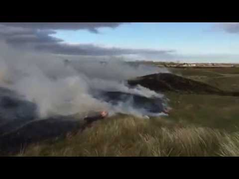 Royal St George's Golf Club, Kent: Burning Management