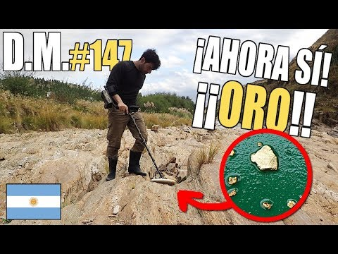 We found THICK GOLD in an ARGENTINE river GOLD fever! 🇦🇷  Detección Metálica 147
