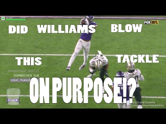 Did Williams from the Saints miss this tackle on purpose to lose the game?
