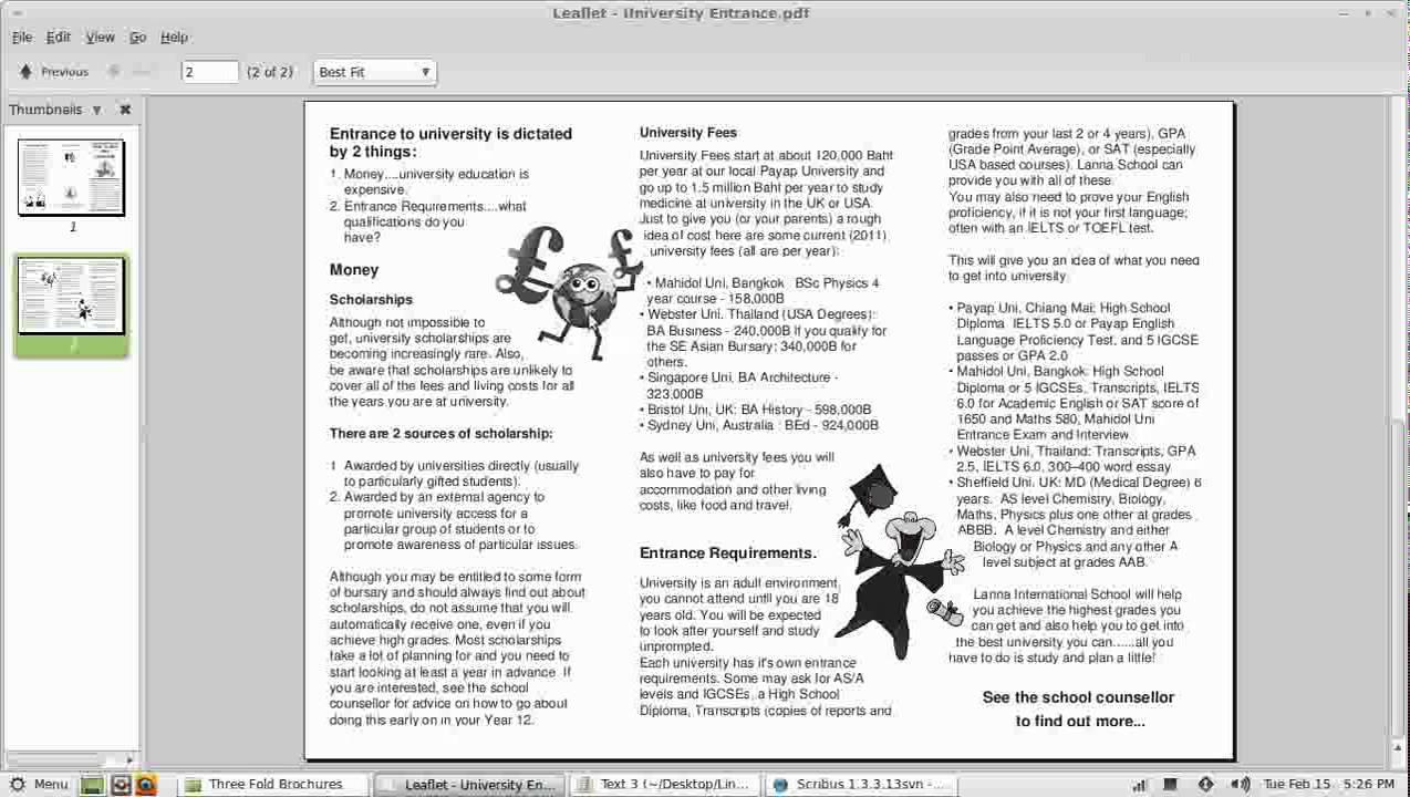 Scribus Video Tutorial - Part 8 - Three fold Brochure 4 of 4 - Applying  styles and saving as pdf