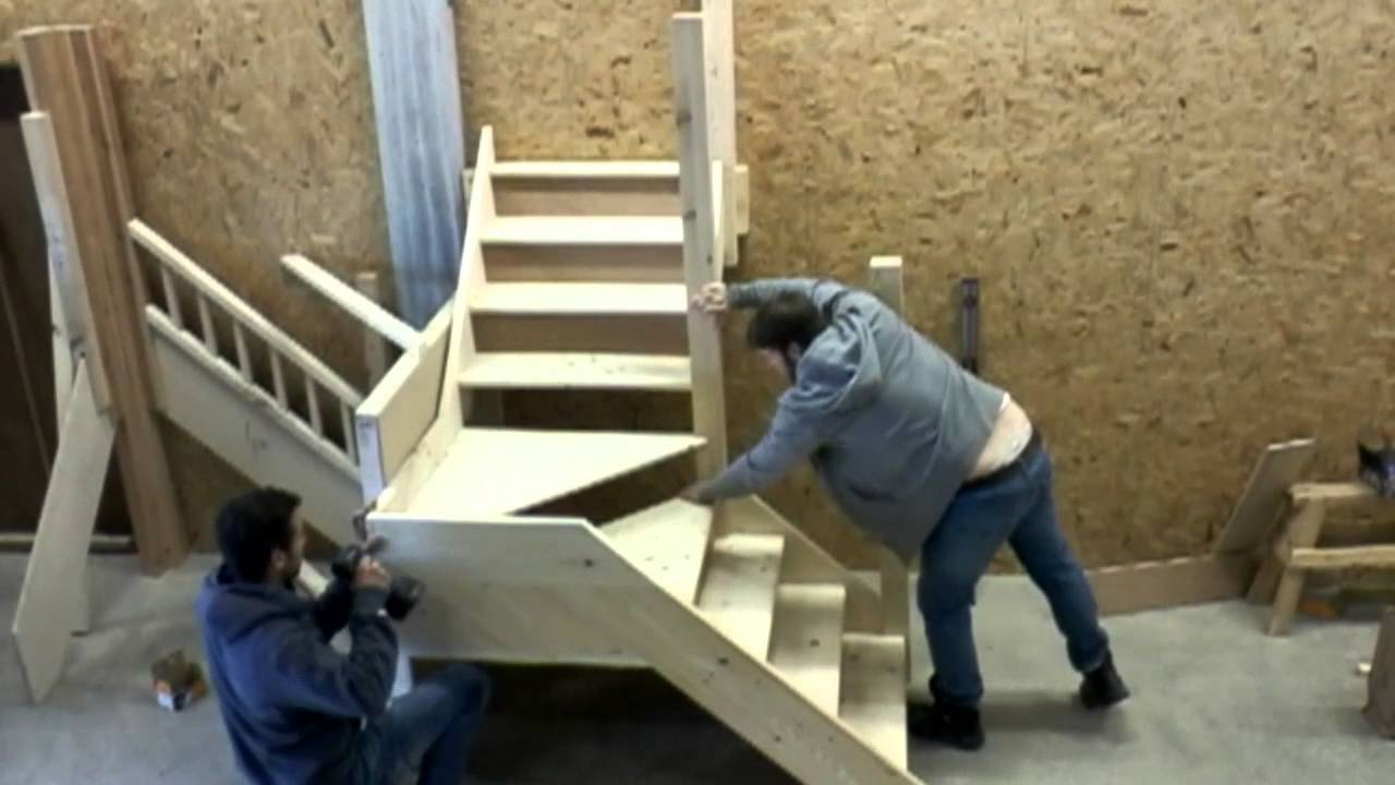 Kite winder staircase youtube for Building winder stairs