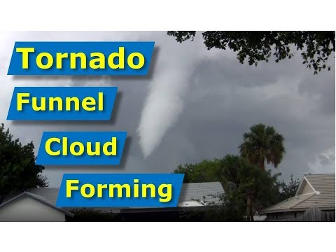 Tornado forming over Margate, Tamarac, and Coral Springs, FL