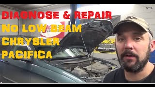 No Low Beam Head Lamp - Chrysler Pacifica
