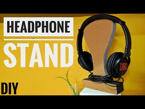How to make DIY headphone stand from cardboard for your desk - (India)