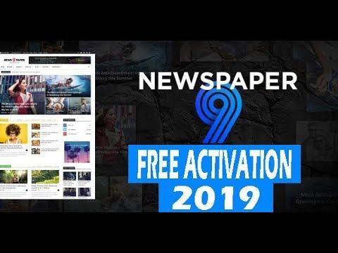 تحميل قالب Newspaper 9.2.2 أخر نسخة مجانا + التفعيل 2019 | Theme Newspaper V9.2.2 + Activation