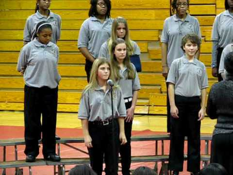 Summit Parkway Middle School Chorus. Rebecca Harris, soloist.