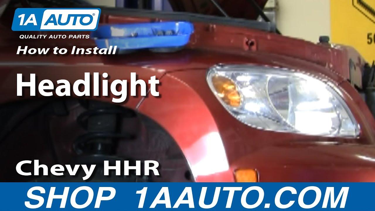 medium resolution of how to install replace headlight chevy hhr 06 10 1aauto com