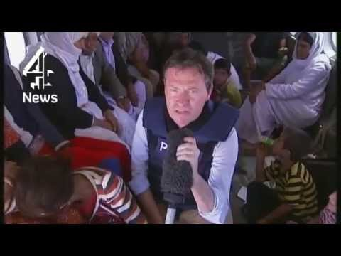 Iraq: Raw footage of Yazidis helicopter rescue from Mount Sinjar | Channel 4 News