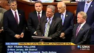 Rep. Frank Pallone, Jr. Honors Senator Lautenberg