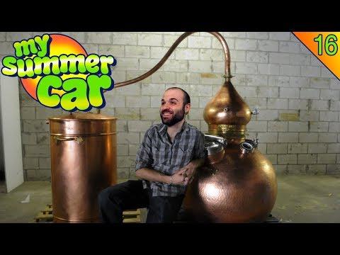 DESTILANDO ALCOHOL PARA VENDER! | MY SUMMER CAR Gameplay Español