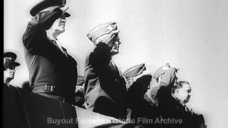 Historic Archival Stock Footage WWII - Bastogne Defenders Honored