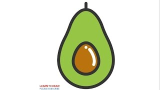 How To Draw a Avocado Step By Step For Kids