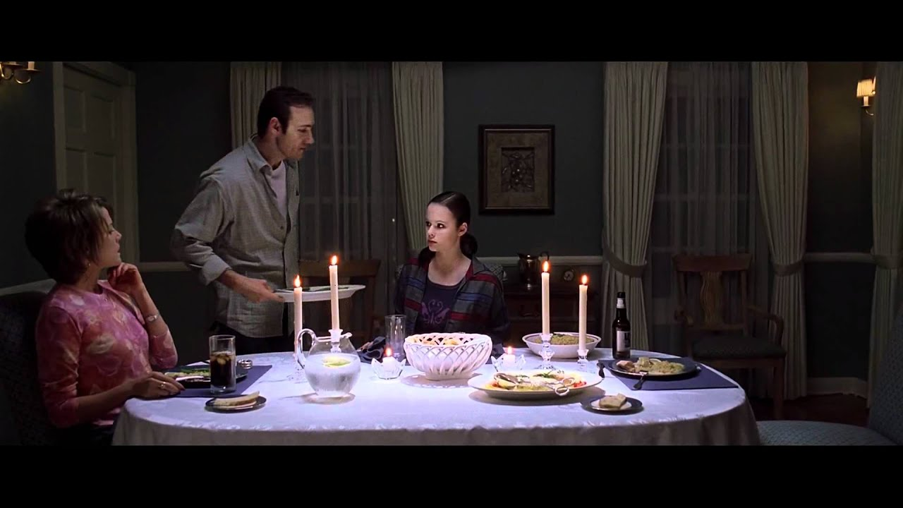 American beauty dinner scene 1080p hd youtube for Beauty on table