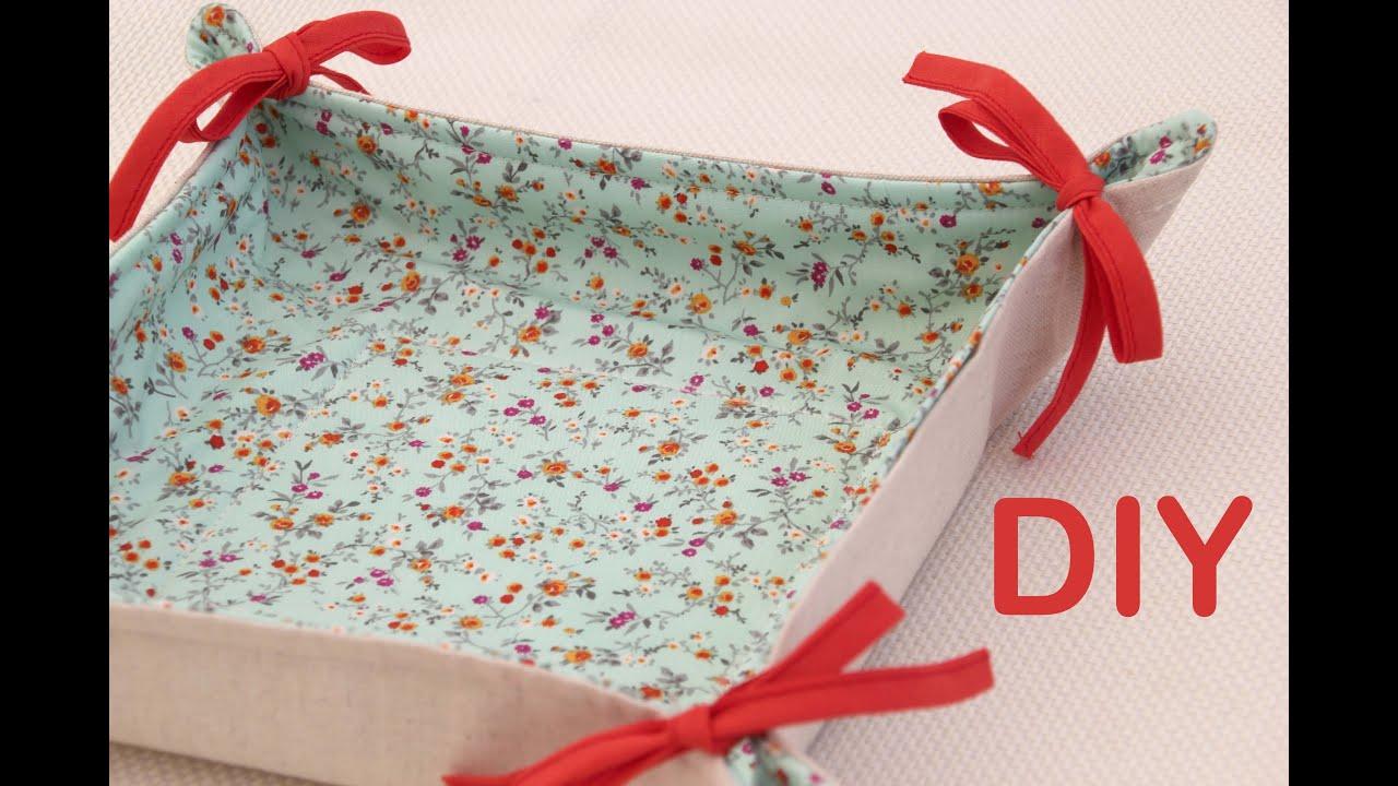 Clase de costura pr ctica 8 c mo hacer panera de tela for Como hacer una cocina